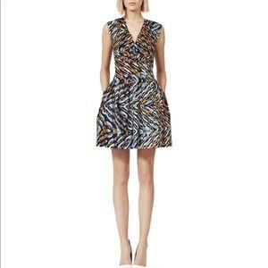 REISS Amyline Pleated Bell Dress sz 2